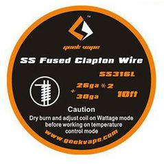 SS Clapton and Fused Clapton Wire SS316L 3m Geekvape