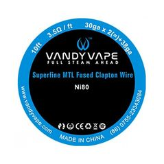Σύρμα N80 / NI80 Superfine MTL Fused Clapton Vandy Vape